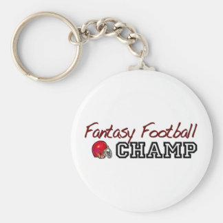 Fantasy Football Champ Basic Round Button Key Ring