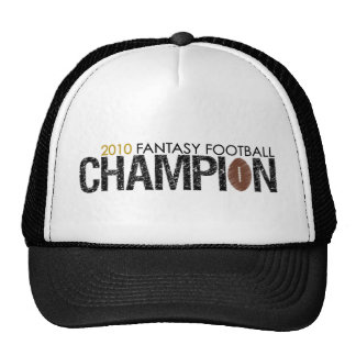 fantasy football champion 2010 trucker hat