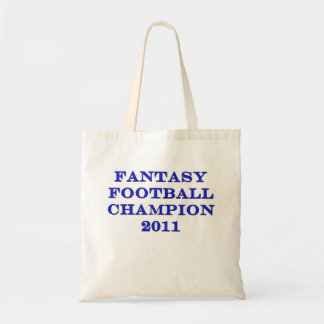 Fantasy Football Champion 2011 Budget Tote Bag