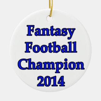 Fantasy Football Champion 2014 Round Ceramic Decoration