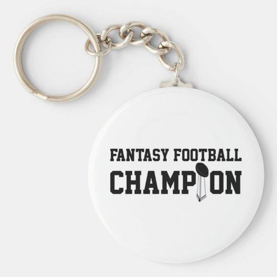 Fantasy Football Champion Basic Round Button Key Ring