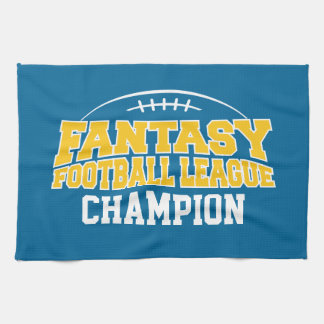 Fantasy Football Champion - Blue and Yellow Gold Tea Towel