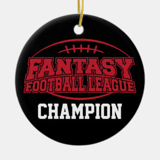 Fantasy Football Champion - Funny Sports Gift Christmas Ornament