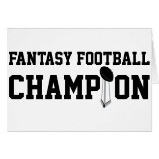 Fantasy Football Champion Greeting Card