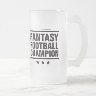 Fantasy Football Champion! 16 Oz Frosted Glass Beer Mug
