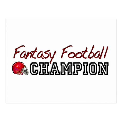 Fantasy Football Champion Postcard