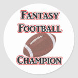 Fantasy Football Champion Stickers