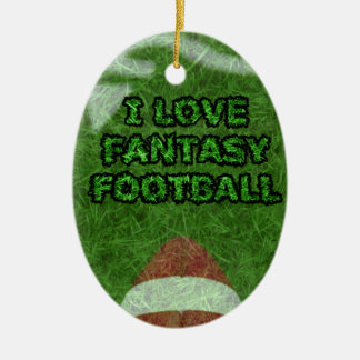 fantasy football christmas ornament
