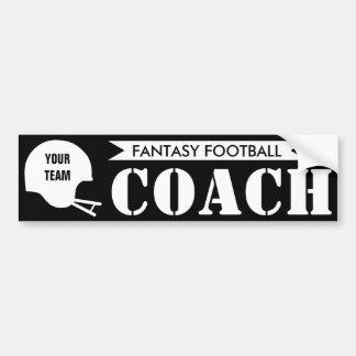 Fantasy Football Coach Bumper Sticker