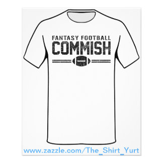 Fantasy Football Commish 11.5 Cm X 14 Cm Flyer