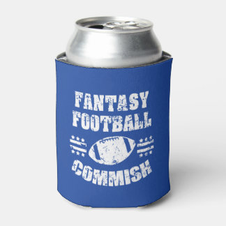 Fantasy Football Commish funny can cooler