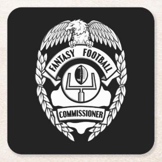 Fantasy Football Commissioner Square Paper Coaster