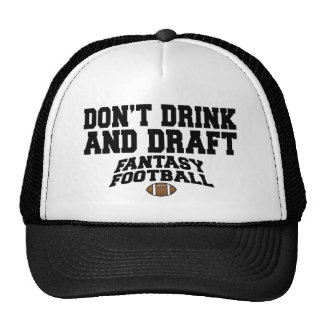 Fantasy Football Dont Drink and Draft Cap