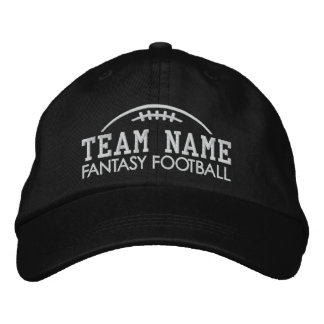 Fantasy Football Fan Gear with Your Team Name Embroidered Hats