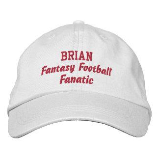 Fantasy Football Fanatic Custom Name Embroidered Baseball Caps