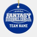 Fantasy Football - Funny Sports Gift Round Ceramic Decoration