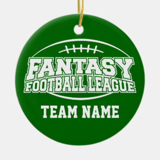 Fantasy Football - Funny Sports Gift Round Ceramic Decoration