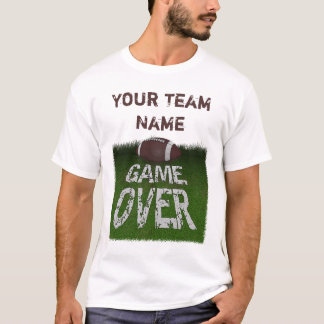 Fantasy Football Game Over Custom T-Shirt