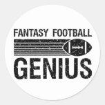Fantasy Football Genius 1 Round Sticker