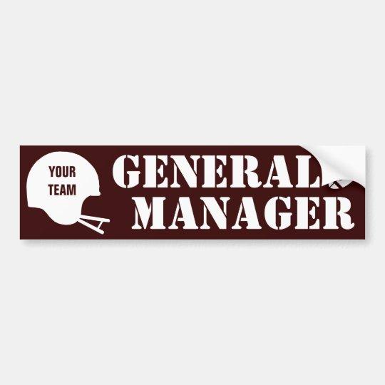 Fantasy Football GM Bumper Sticker