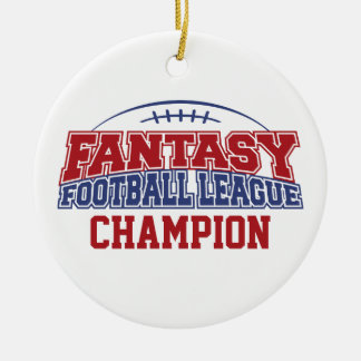 Fantasy Football League Champion Christmas Ornament