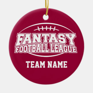 Fantasy Football League Round Ceramic Decoration