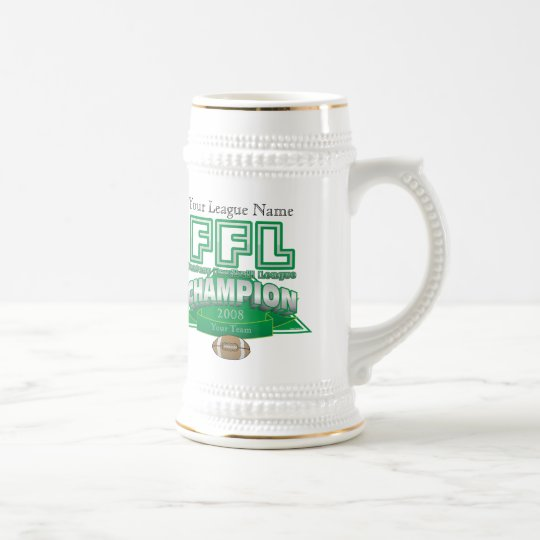 Fantasy Football League Trophy - Customised Beer Stein