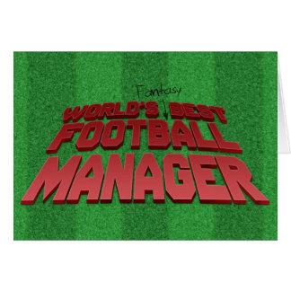 Fantasy Football Manager Greeting Card
