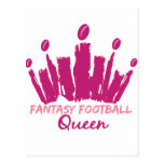 Fantasy Football Queen Postcard