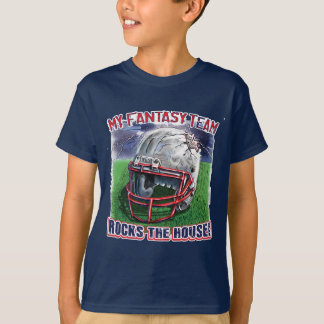 Fantasy Football Rocks the House Gear T-Shirt