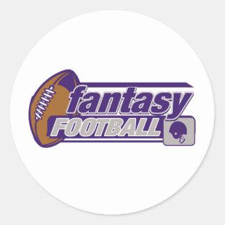 Fantasy Football Round Sticker