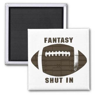 Fantasy Football Shut In Square Magnet