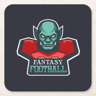 Fantasy Football Square Paper Coaster