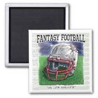 Fantasy Football Zen Master Gear Square Magnet