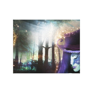Fantasy forest girl canvas print