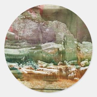 Fantasy Forest Round Sticker