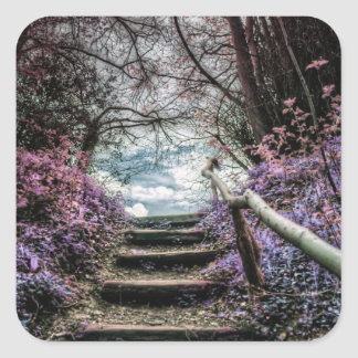 Fantasy Forest Steps Stickers