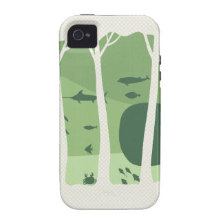 Fantasy Forest Vibe iPhone 4 Cover