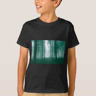 Fantasy forest with fog in Green T-Shirt