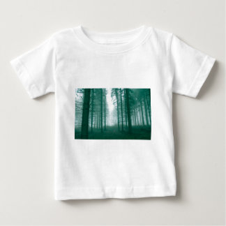 Fantasy forest with fog in Green Tee Shirts