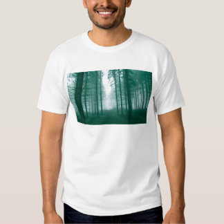 Fantasy forest with fog in Green Tees
