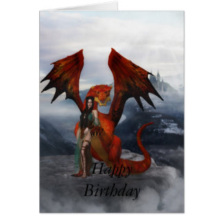Fantasy Freak Birthday Card