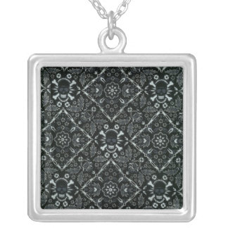 Fantasy Fun Black Skull Sterling Silver Necklace