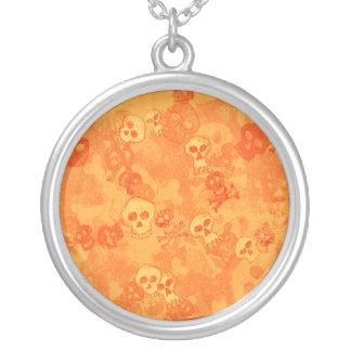 Fantasy Fun Skulls Sterling Silver Necklace