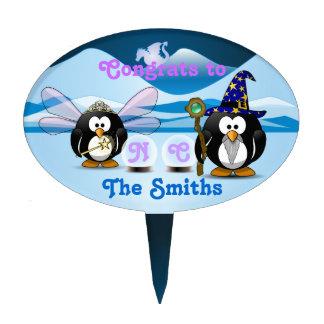 Fantasy Glacier Penguins Wizard Fairy Crystal Ball Cake Picks