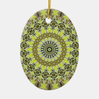 Fantasy Glow Gold No. 1 Kaleidoscope Ceramic Oval Decoration