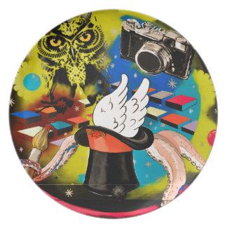 Fantasy graffiti plate