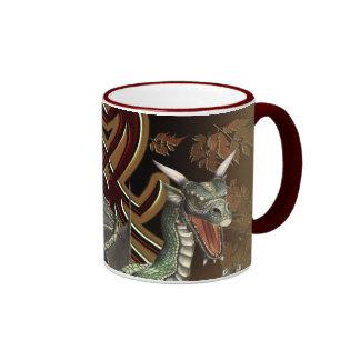 Fantasy Green Dragon Coffee Mug
