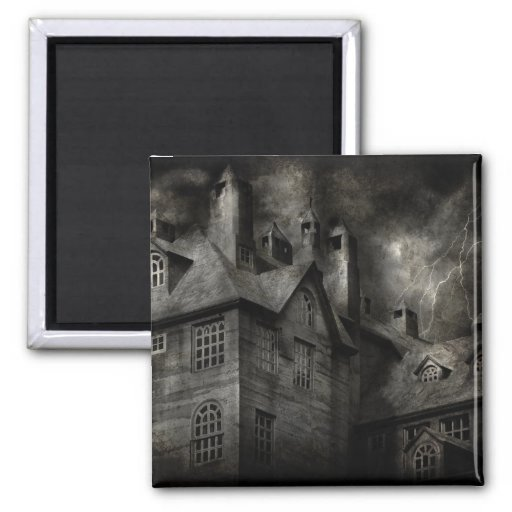 Fantasy - Haunted - It was a dark and stormy night Refrigerator Magnet