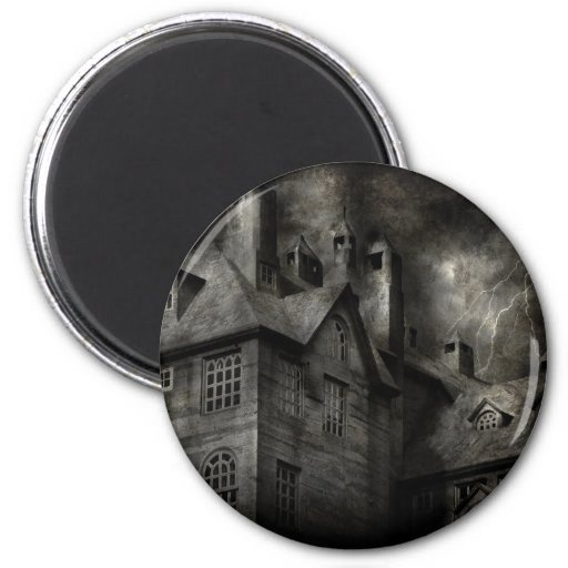 Fantasy - Haunted - It was a dark and stormy night Fridge Magnets